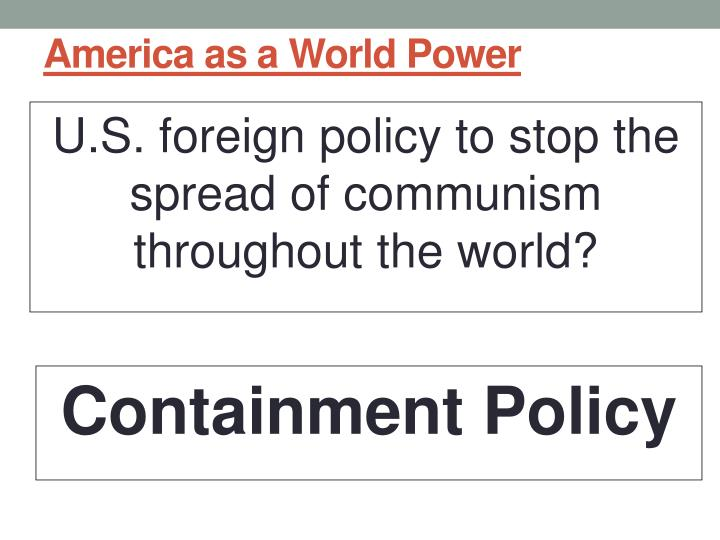 America as a World Power