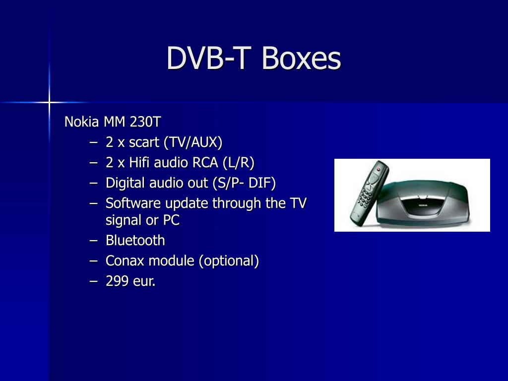PPT - D I G I T A L T V receivers PowerPoint Presentation