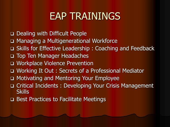 EAP TRAININGS