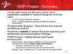 hopi project summary