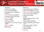 leading emerging regional optical networks