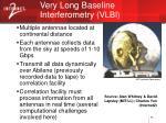 very long baseline interferometry vlbi