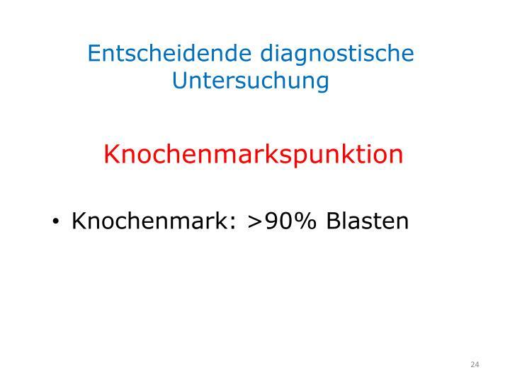 Entscheidende diagnostische Untersuchung