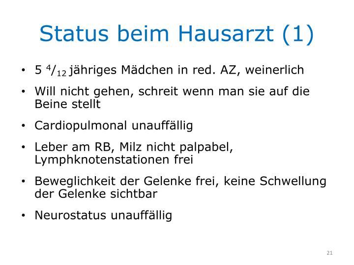 Status beim Hausarzt (1)