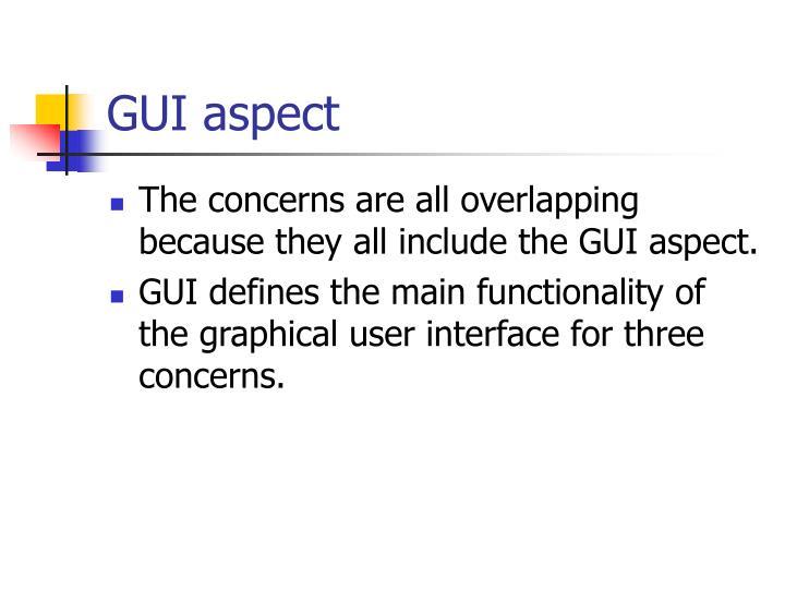 GUI aspect