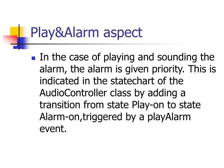 Play&Alarm aspect