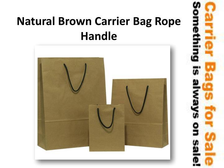 Natural Brown Carrier Bag Rope