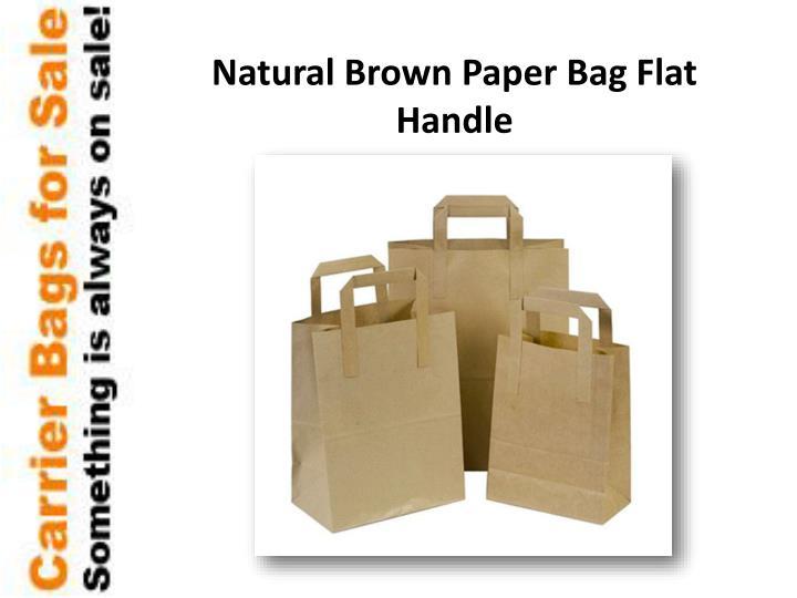 Natural Brown Paper Bag