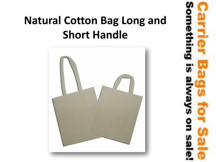 Natural Cotton Bag Long and Short