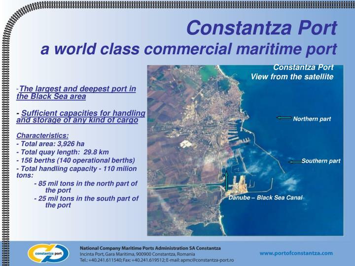Constantza port a world class commercial maritime port