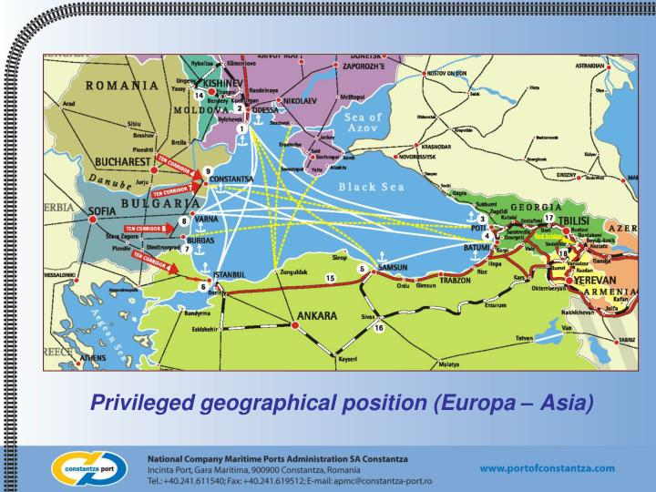 Privileged geographical position