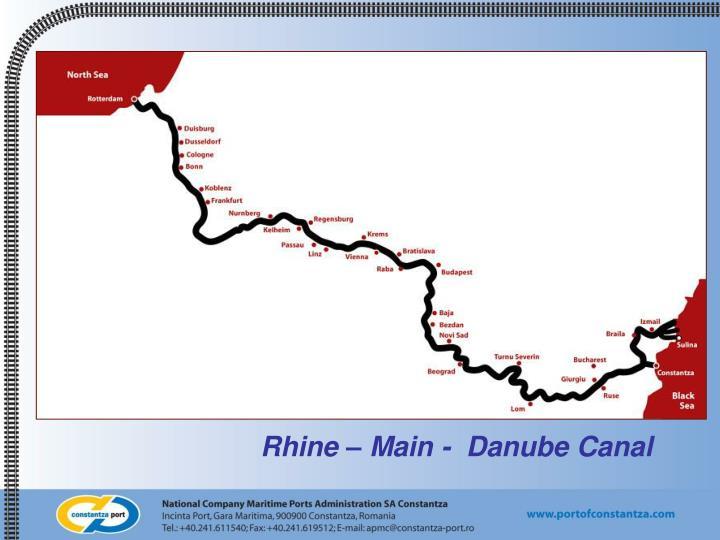 Rhine – Main -  Danube Canal
