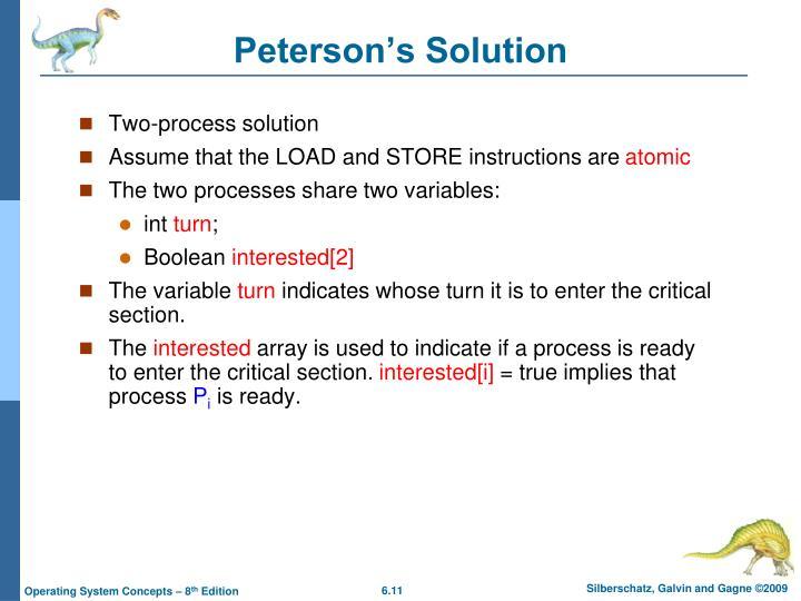Peterson's Solution