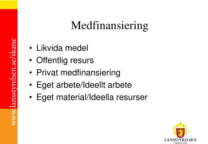 Medfinansiering