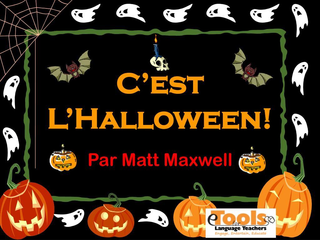 ppt c est l halloween powerpoint presentation id 4278983