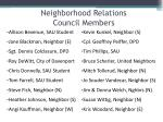 neighborhood relations council members