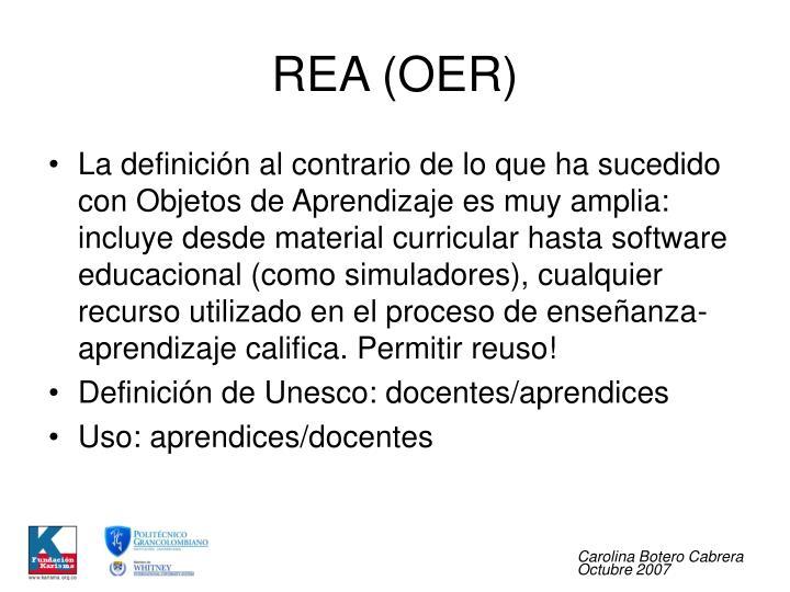 REA (OER)