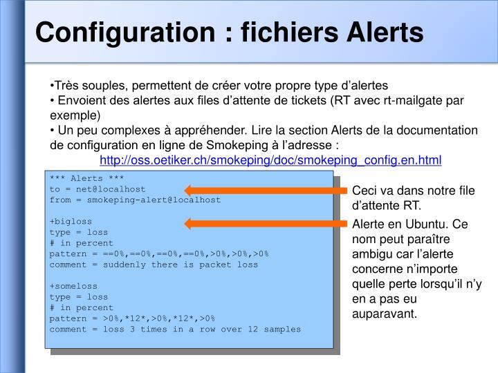 Configuration : fichiers Alerts