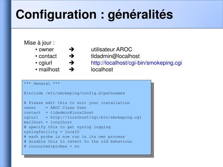 Configuration : généralités