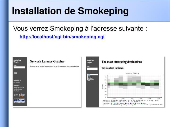 Installation de Smokeping