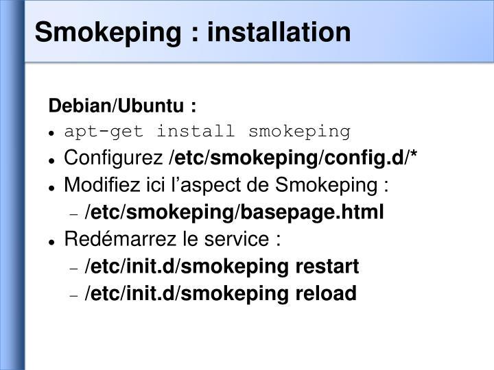 Smokeping : installation