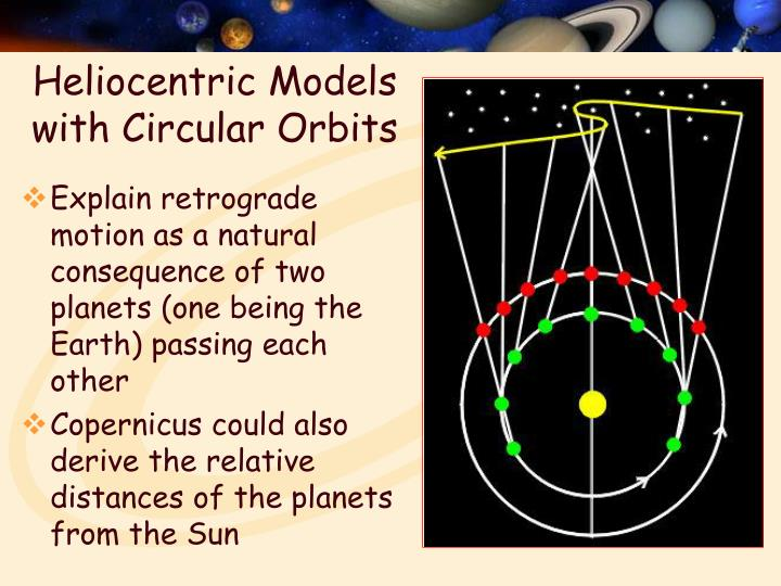 Heliocentric Models with Circular Orbits