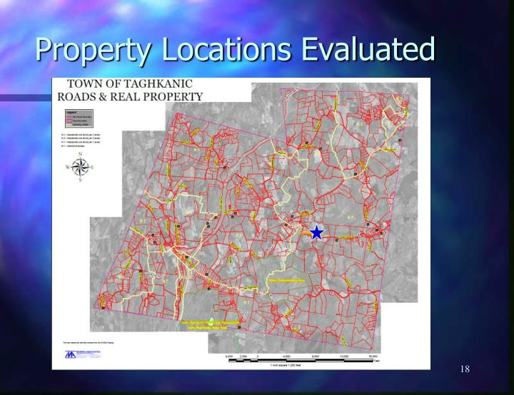 Property Locations Evaluated