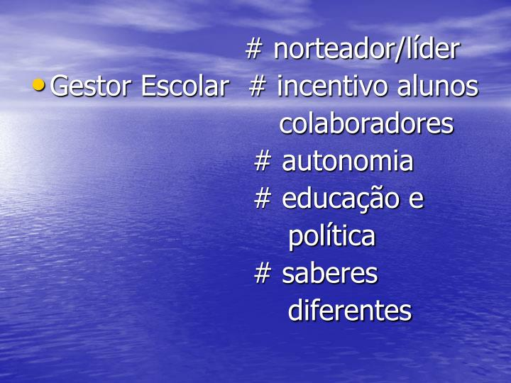 # norteador/líder