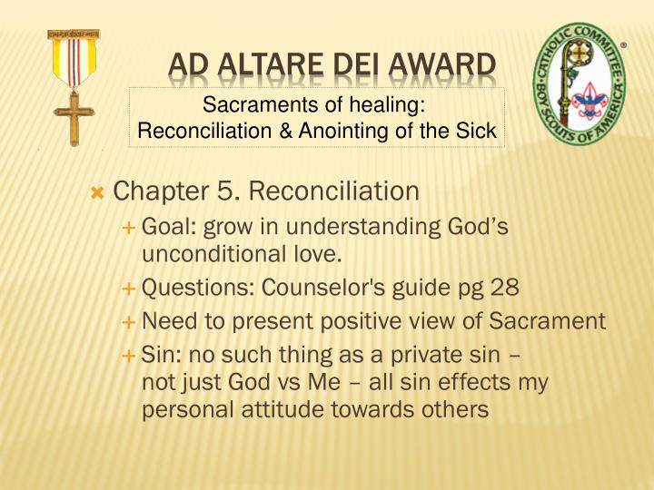Chapter 5. Reconciliation