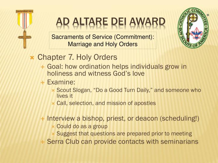 Chapter 7. Holy Orders