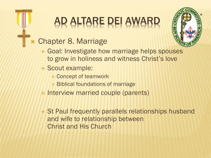 Chapter 8. Marriage