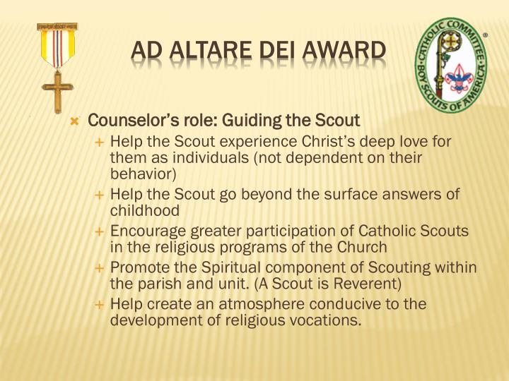 Counselor's role: Guiding the Scout