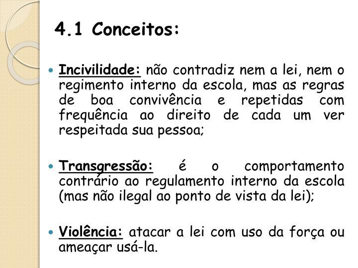 4.1 Conceitos: