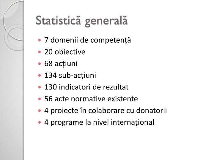 Statistică generală
