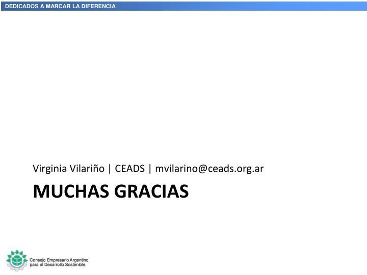 Virginia Vilariño   CEADS   mvilarino@ceads.org.ar