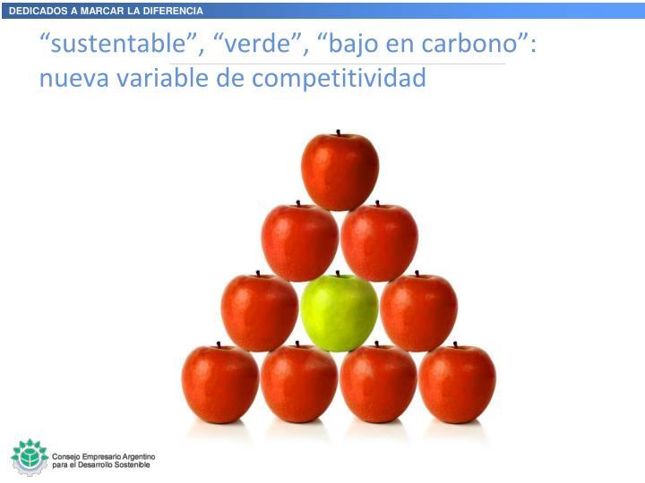 """""""sustentable"""", """"verde"""", """"bajo en carbono"""": nueva variable de competitividad"""