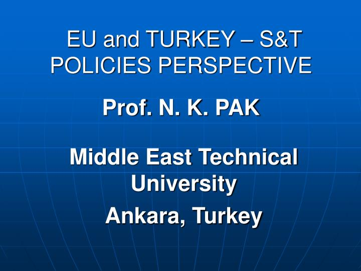 eu and turkey s t policies perspective n.