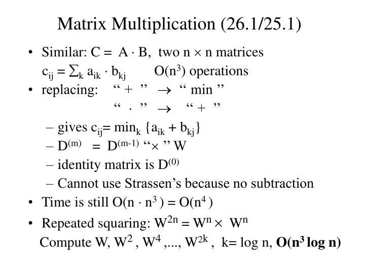 Matrix multiplication 26 1 25 1