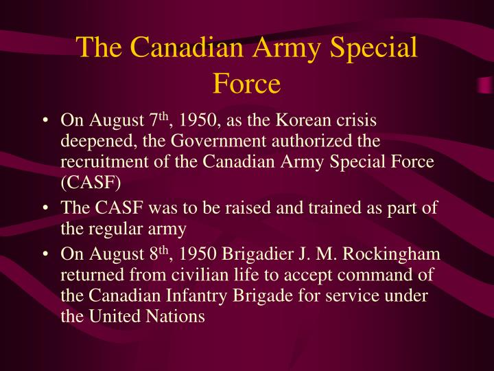 The Canadian Army Special Force