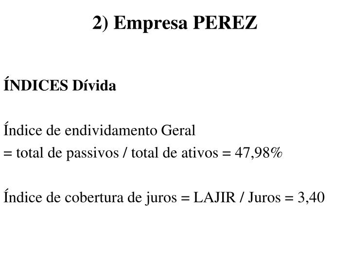 2) Empresa PEREZ