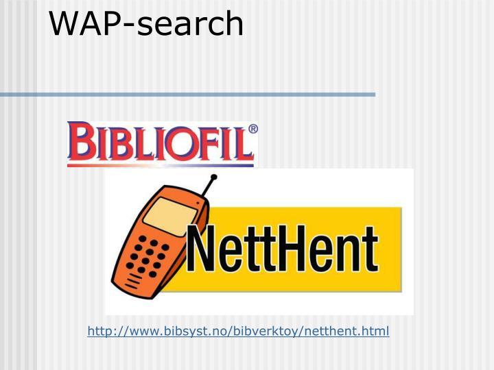 WAP-search