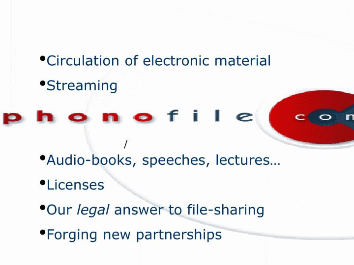 Circulation of electronic material
