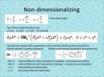 non dimensionalizing