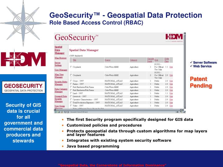 GeoSecurity™ - Geospatial Data Protection