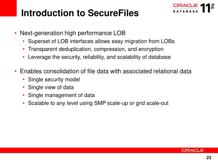 Introduction to SecureFiles