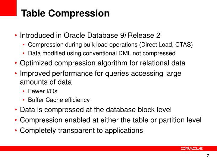 Table Compression