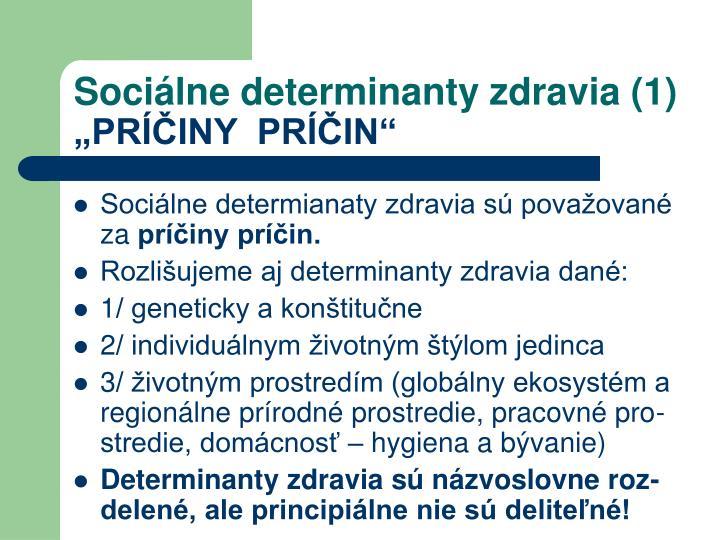 Sociálne determinanty zdravia (1)