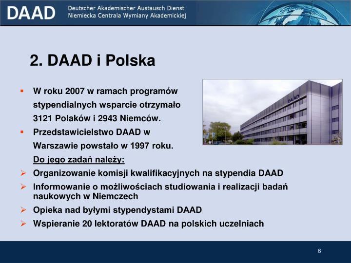 2. DAAD i Polska