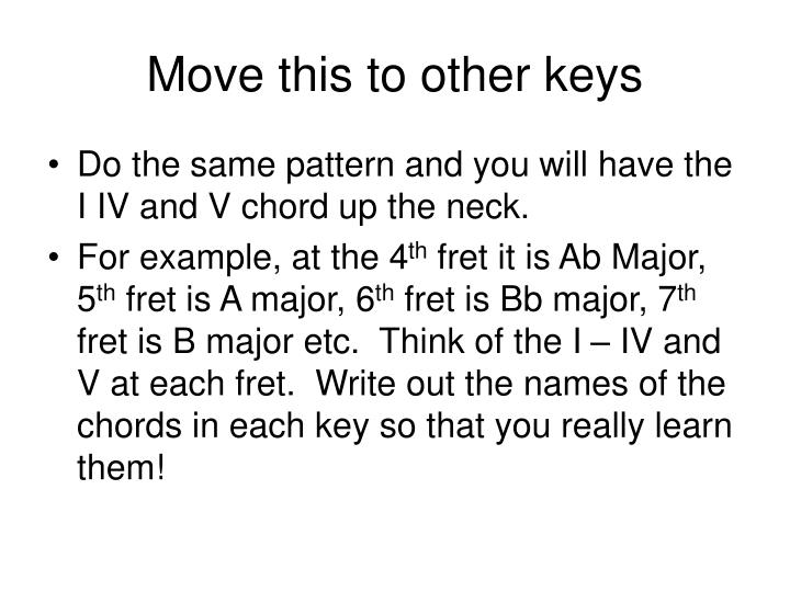 Move this to other keys