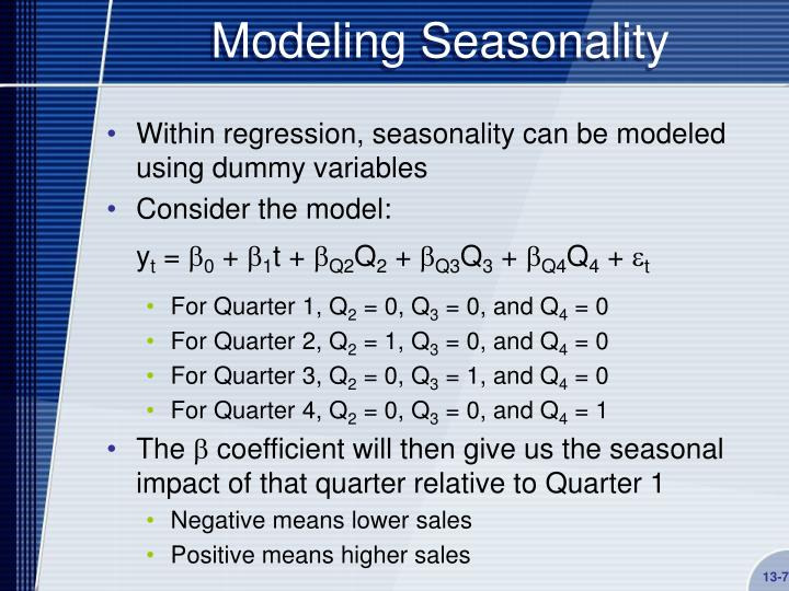 Modeling Seasonality
